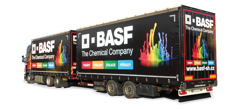 Potisk autoplachet - BASF